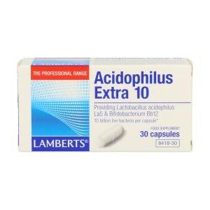 Acidophilus Extra 10. Una al Día con 30 cápsulas