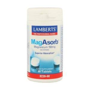 MagAsorb®. Citrato de Magnesio 150 mg, más absorción 60 tabletas