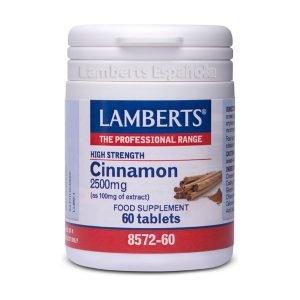 Canela 2.500 mg como extracto estandarizado – Lamberts
