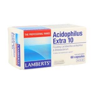 Acidophilus Extra 10. Una al Día con 60 cápsulas – Lamberts