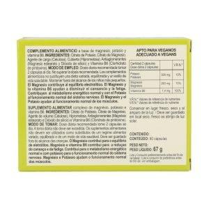 Magnesio y potasio – 60 cáps.