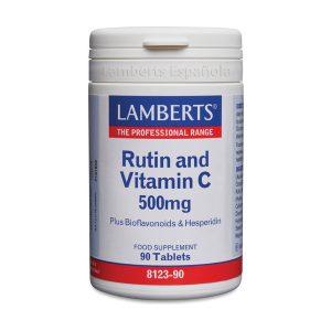 Rutina y Vitamina C 500 mg con Bioflavonoides y Hesperidina