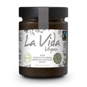 Crema de chocolate con avellanas vegana La Vida Vegan 600 gr.