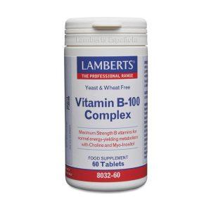 Complejo B 100 mg con todas las vitaminas B. Una al día