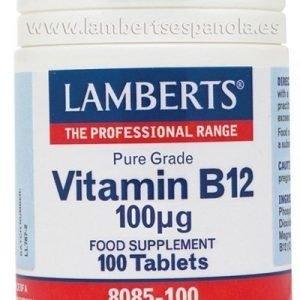 Vitamina B12 100 mcg en forma de Metilcobalamina. Grado puro.
