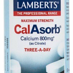 CalAsorb®, Calcio 800 mg como Citrato y Vitamina D3 60 tabletas
