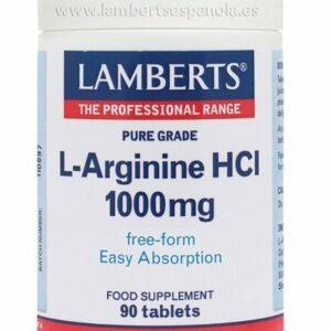L-Arginina HCI 1000 mg en forma Libre. Aminoácido no esencial