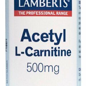 Acetil L-Carnitina 500 mg en forma Libre. Aminoácido no esencial