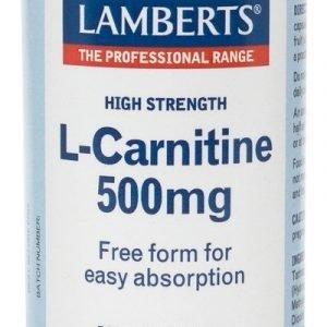 L-Carnitina 500 mg Pura en forma libre. Aminoácido no esencial