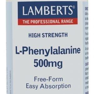 L-Fenilalanina 500 mg en forma libre. Aminoácido esencial
