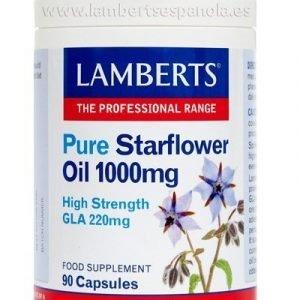 Aceite de Borraja Puro 1000 mg con 220 mg de GLA por cápsula