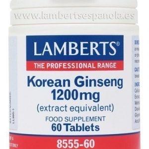 Ginseng Coreano o Panax Ginseng 1200 mg