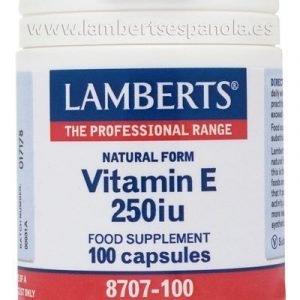 Vitamina E Natural 250 UI (168 mg)