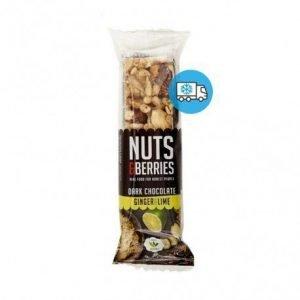 Barrita de chocolate negro con jengibre y lima Nuts&Berries 40g