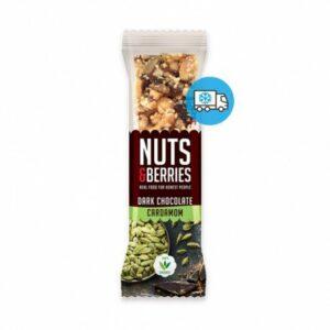 Barrita de chocolate negro y cardamomo Nuts&Berries 40g