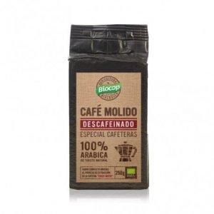 Café molido 100% Arábica descafeinado Biocop 250 gr.