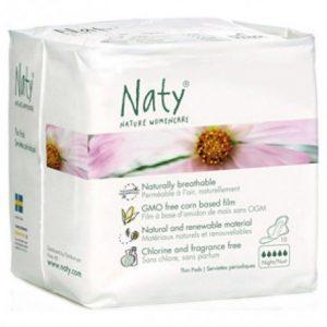 Compresas alas noche Naty 10 unidades
