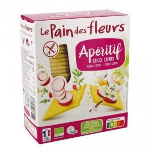 Cracker de coco y curry para aperitivo Le Pain Des Fleurs 150 g