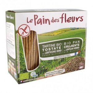 Cracker lenteja verde Le Pain des Fleurs 150 g