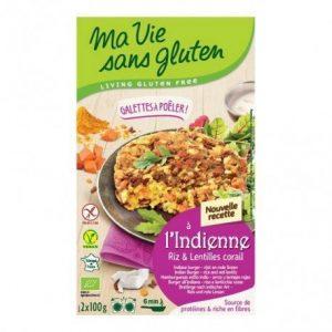 Hamburguesa arroz lenteja roja Galette Ma Vie Sans Gluten 2 x 100 g