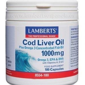 Aceite de Hígado de Bacalao 1000 mg en forma de triglicéridos.