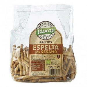 Palitos de espelta con sésamo Biocop 150 gr.