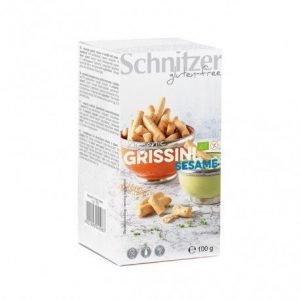 Palitos grissini sesamo sin gluten Schnitzer 100 g