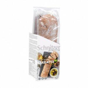 Pan ciabatta con aceitunas sin gluten Schnitzer 360 g