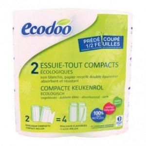 Papel cocina compacto 100% fibra reciclada Ecodoo 2 unidades