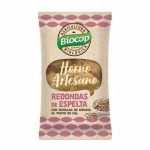 Redondas de espelta con semillas de girasol y sal Biocop 50 gr.