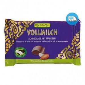 Snack de chocolate con leche con almendras Rapunzel 100 g