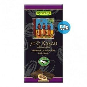 Tableta de chocolate extra negro Rapunzel 80 g