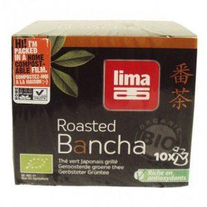 Té verde tostado Bancha instant Lima 10 bolsitas