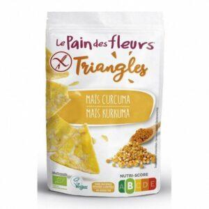 Triángulos de maíz y cúrcuma Le Pain des Fleurs 50g