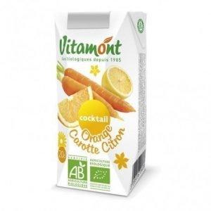 Zumo de naranja-zanahoria-limón Vitamont brick 6 x 20 cl