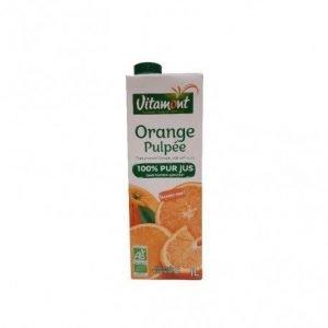 Zumo de naranja con pulpa en brick Vitamont 1 litro