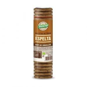 Galleta de espelta con chips de chocolate Biocop 250 gr.