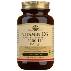 Vitamina D3 2200 UI (55 μg) (Colecalciferol) – 100 Cápsulas vegetales