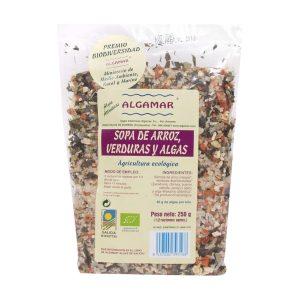Sémola de arroz con algas