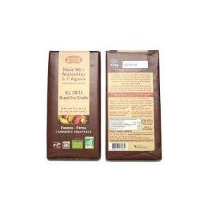 Chocolate Negro 90% con Avellana 15% y Agave