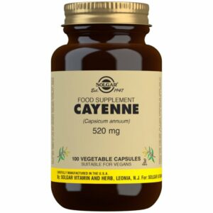 Cayena 520 mg (Capsicum annuum) – 100 Cápsulas vegetales