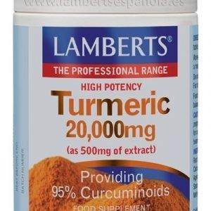 Cúrcuma o Turmeric 20.000 mg extracto de raíz de Cúrcuma longa