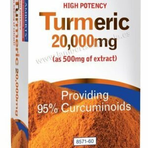 Cúrcuma o Turmeric 20.000 mg como extracto de Cúrcuma longa