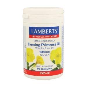 Aceite de Prímula con Borraja 1000 mg con Vitamina E – Lamberts
