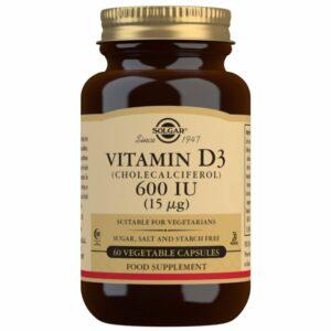 Vitamina D3 600 UI (15 μg) (Colecalciferol) – 60 cápsulas vegetales