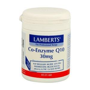 Co-Enzima Q10 30 mg (CoQ10 o ubiquinona) – Lamberts