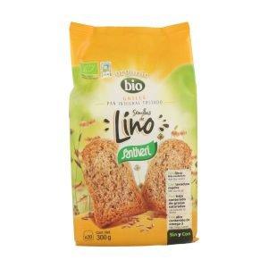 Tostadas Pan Grille Integral con Semillas de Lino – Santiveri