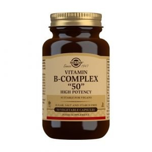 "Vitamina B-Complex ""50"" Alta Potencia (50 Cápsulas Vegetales)"