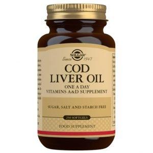 Aceite de Hígado de Bacalao – 250 cápsulas blandas – Solgar