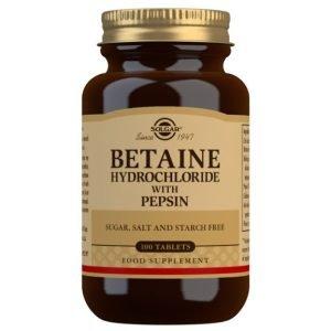 Betaína Clorhidrato con Pepsina (100 Comprimidos)